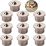 CESFONJER 10 pcs perno centro di allineamento lavorazione del legno punte strumento centro di marcatura trapano, 8 mm centro di centraggio punte perno set di perni (Solid)