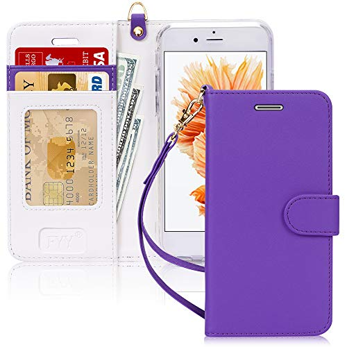 FYY Case for iPhone 7 / iPhone 8, [Kickstand Feature] Luxury PU Leather Wallet Case Flip Folio Cover with [Card Slots] and [Note Pockets] for Apple iPhone 7 2016 /iPhone 8 2017 (4.7') Purple