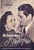 Heimliches Rendezvous - Ruth Drexel - IFB Filmprogramm 369 ungelocht