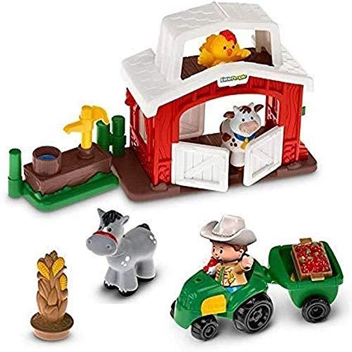 Little People Happy Animals Farm - Preschool Farm Playset ~ Includes Barn  Tractor  Pump and Figures