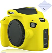 Yisau Canon EOS Rebel T6 T7 Camera Housing Case, Silicion Rubber Camera Case Cover Detachable Protective for Canon EOS 1300D Rebel T6/ EOS 1500D Rebel T7 KISS X90 Camera (Yellow)