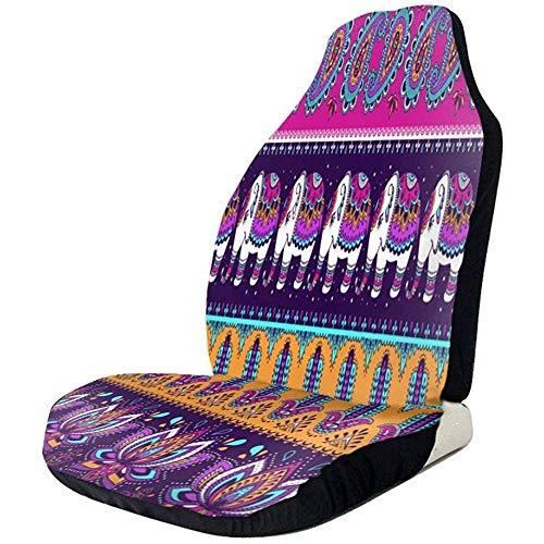 Alice Eva Sièges d'auto pour sièges d'auto indiens pour Hamsa et éléphant recouvrent une protection de siège automatique pour VUS