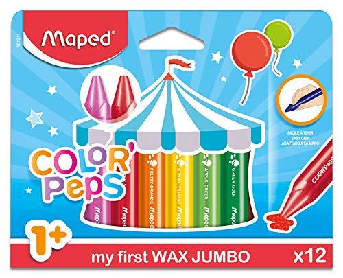 Maped Color' Peps Jumbo, Set de 12 Crayones