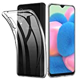 Amonke Funda Samsung Galaxy A30s / A50 - Silicona Transparente TPU Carcasa, Ultra Slim Cristal Clear Flexible Suave Antigolpes Antiaraazos Bumper Case Cover para Movil Samsung Galaxy A30s / A50