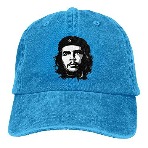 AOOEDM Che Guevara Unisex Sombreros de Vaquero Deporte Sombrero de Mezclilla Gorra de béisbol de Moda Negro