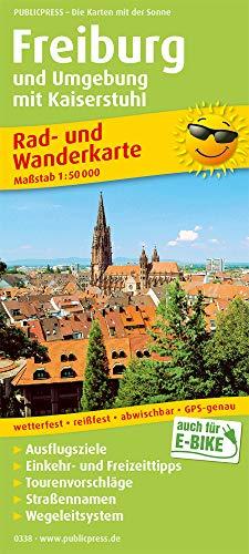 Freiburg und Umgebung mit Kaiserstuhl: Rad- und Wanderkarte mit Ausflugszielen, Einkehr- & Freizeittipps, wetterfest, reissfest, abwischbar, GPS-genau. 1:50000 (Rad- und Wanderkarte / RuWK)