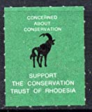 Cinderella - Rhodesia Springbok Undenominated label u/m inscribed 'Support the Conservation Trust of Rhodesia' CINDERELLA WWF ANIMALS ANTELOPES JandRStamps