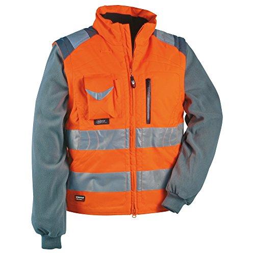 Cofra - Maglione e gilet ad alta visibilità, 2 in 1, modello: Signal, colore: arancione fluorescente