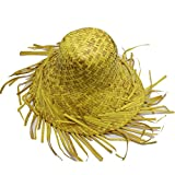 EBTOYS Straw Hat Hawaiian Fancy Dress Party Straw Beachcomber Curl Up Edges Hat for Adults