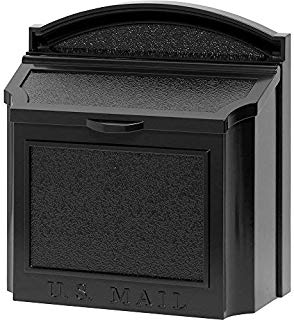 Whitehall Products Locking Wall Mounted Large Mailbox, Black