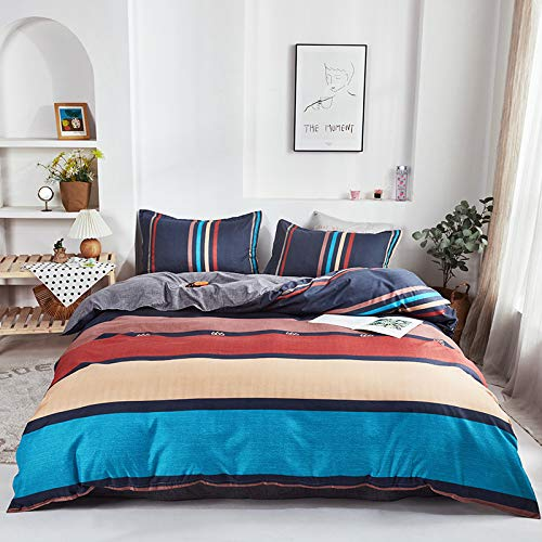 QXbecky Aloe Cotton Bedding, Printed Bed Sheet, Quilt Cover, Pillowcase 3,4 Piece Set, Environmentally Friendly Reactive Printing and Dyeing