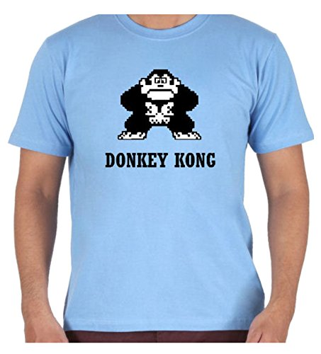 Men's Light Blue Donkey Kong T-shirt, S to XXL