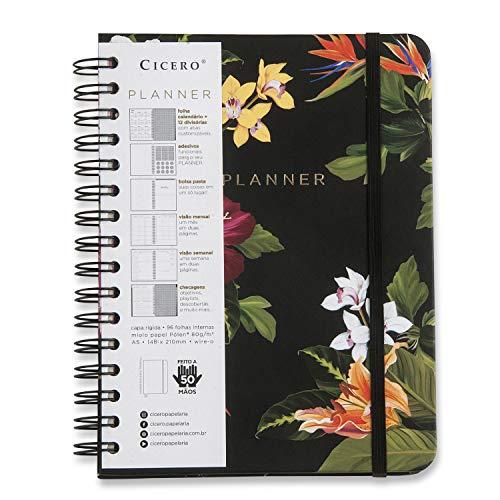 Planner Wire-o Tropical Fauna, Cicero, 3595, Multicolorido, Mensal e Semanal, 75 Folhas, Papel Pólen 80g/m², Tamanho A5 (Grande)