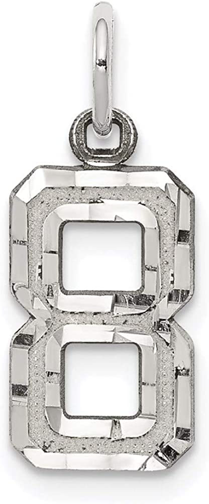Charm Pendant White Sterling Silver Ranking TOP20 8 Rhodium-Plated 7 Our shop OFFers the best service 20 mm Sma