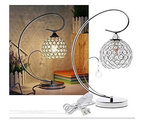Lámpara de mesa Lámpara de mesa de cristal moderno Al lado de la luz de la noche Dormitorio Decoración de escritorio Lámpara Lámparas de mesa para el dormitorio abajur para quart