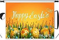 写真撮影のための新しい春のイースターの背景10x7ftファブリック黄金の卵草と花自然の風景の背景カスタマイズされた子供子供大人の肖像画写真の背景スタジオ小道具洗える