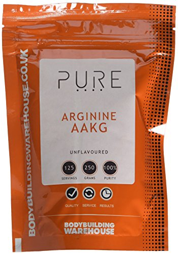 Bodybuilding Warehouse Pure AAKG Arginine Powder (Arginine Alpha Ketoglutarate) 250g Pre Workoput Supplement