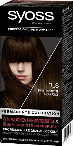 Syoss Coloration Stufe 3 3_8 Sweet Brunette, bis zu 10 Wochen Farbintensität, 3er Pack(3 x 115 ml)