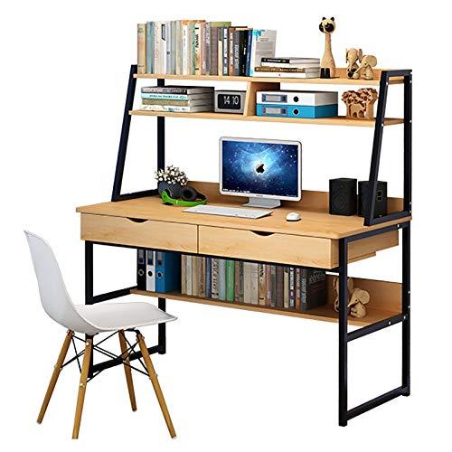 LZJX Multi-Funcional Mesa para PC Mesa De Trabajo para El Hogar,con Almacenamiento Y Cajón Escritorio De Computadora,Industrial Moderno Escritorio De Oficina