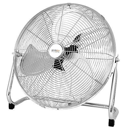 Gridinlux | Ventilador de suelo | HOMELY FRESH 1000 | 3 Velocidades | 100W | Inclinación del cabezal | Manejo sencillo | Acabado cromado | Silencioso