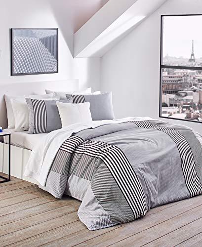 Lacoste Meribel Bettwäsche-Set, Baumwolle, für Doppelbetten, Grau