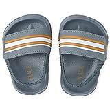 The Children's Place Baby Boys Stripe Slides Slipper, Grey, 4 Infant