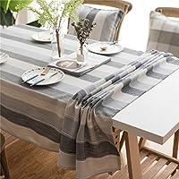 テーブルクロス長方形リネンルックテーブルクロス お手入れが簡単なウォッシャブル 退色防止刺繍テーブルクロス ファミリーレストランウェディング 卓上装飾、 2つのスタイルと利用可能な5つのサイズ,ブルー,135x160cm