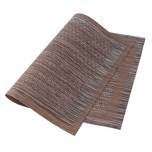 Kaned Tapetes Resistentes al Calor de Estilo Occidental de Doble Estructura para cocinas y mesas de Comedor,marrón Claro
