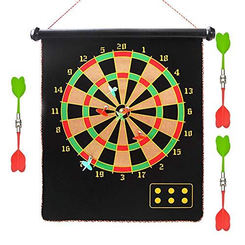 BESISOON Eltern-Kind-Interactive Toys Magnetisches Dartboard-Set 6 Reversible Dart-Rollen Doppelseitiges Bullseye-Spiel Magnetische Sicherheit Dartscheibe Kinder Familie Freizeit Sport