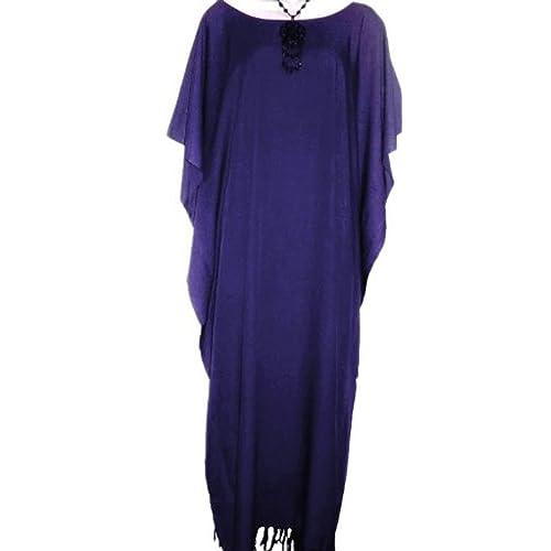 Cool Kaftans PLAIN Kaftan Caftan Dress Robe XXL Free Size Plus Lush b0f61ab9f