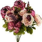 FiveSeasonStuff Grande Bouquet di di Seta Peony e Ortensie Artificiale Fiori Stile Europeo, Ideale per Matrimoni, Sposa, Partito, Casa, Studio Décor Fai da te (Rosa Misti)