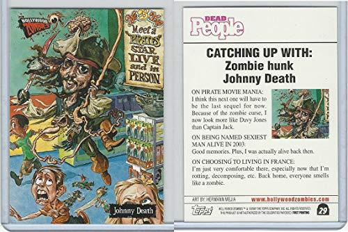 2007 Topps, Hollywood Zombies, 29 Johnny Depp, Pirates Caribbean