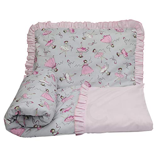 Olobaby Frill Ruffle 2 pcs Baby Cot Bed Bedding Set/Duvet Cover & Pillowcase 100% Cotton (Princess, 120 x 90 cm)