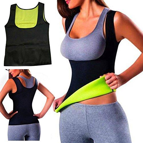Canotta termica calda, maglietta per sudare da yoga, maglia in neoprene modellante e snellente per la vita, da allenamento, modellante