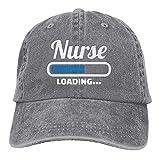Bokueay Enfermera Cargando Gorra de Mezclilla Deportiva Ajustable Snapback Unisex Liso Sombrero de Vaquero de béisbol Estilo clásico