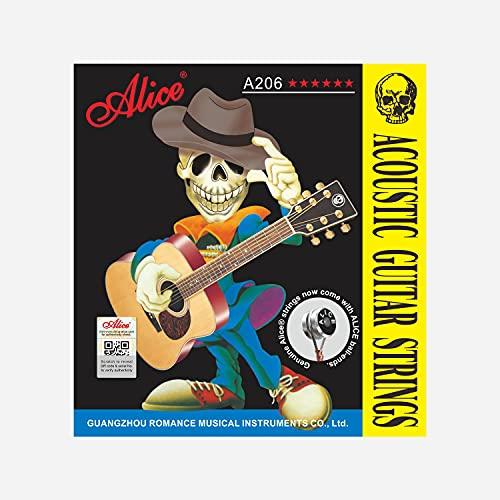 Alice 6-String Beginner 11 Gauge Acoustic Guitar Strings 3 Pack (Super Light)
