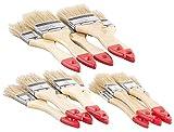 AGT Pinsel: 15-teiliges Flachpinsel-Set mit Holzstielen und Naturborsten, 3 Größen (Pinselset)
