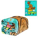 JPI Plush Throw Blanket - Scooby Doo Mystery Machine - Twin Bed 60'x 80' - Faux Fur Blanket for Beds, Sofa, Couch, Picnic, Camping