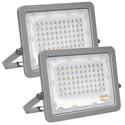 Foco LED OSRAM Gris Slim 50W, Pack 2 unidades, Iluminación Exterior IP65,...