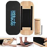 HSPauto Balance Boards, Wood Balance Board W/Special Orbit Design & 27.6' Wood Standing Desk Anti-Slip Surface & Roller for Surfing, SUP, Wakesurf, Wakeskate, Ski, Snowboard and Skateboarding