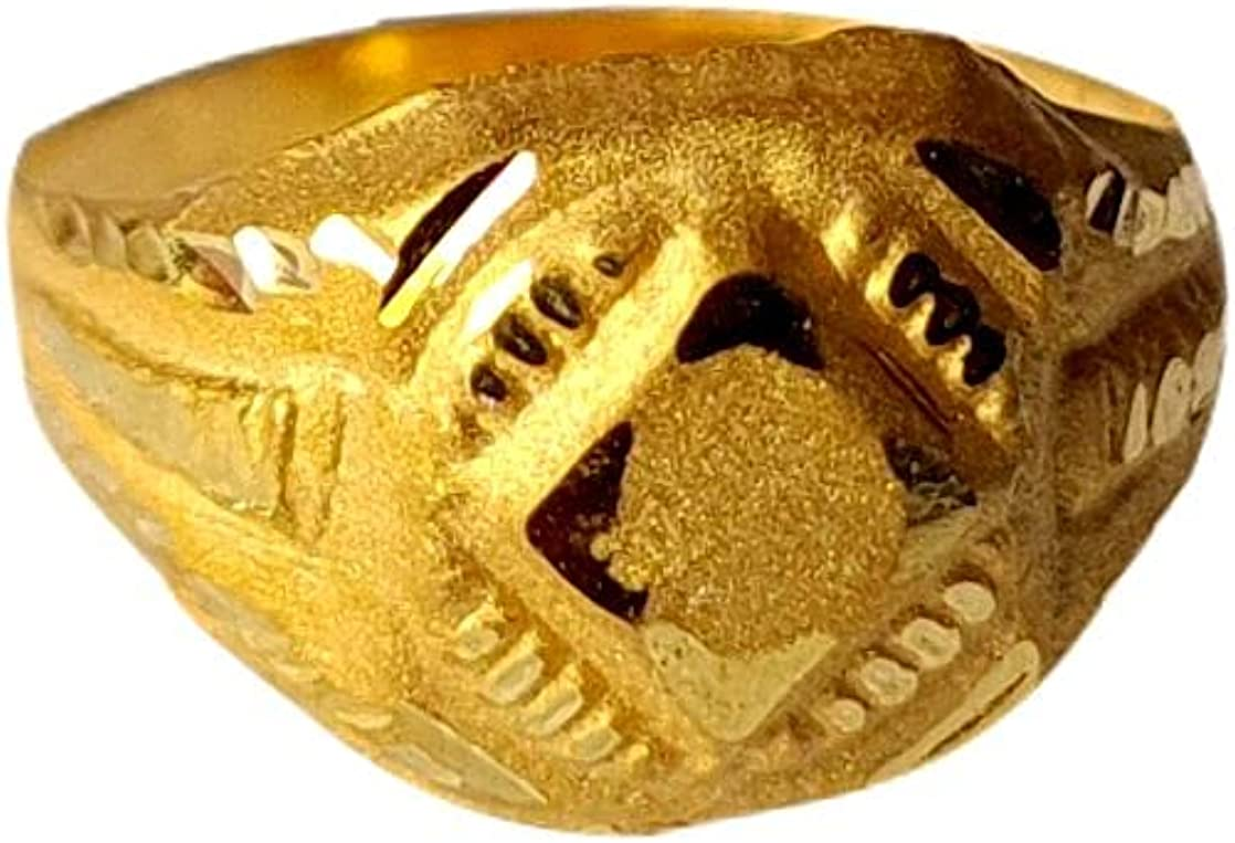 Certified Solid 22K/18K Yellow Fine Gold Octagon Design Kids Ring Size-1 Available In 22 Carat And 18 Carat Fine Gold For Gifts,Kids,Childrens,Baby Boy,Baby Girl,Infant,Celebrations & Regular Use