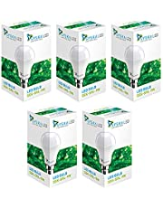 Syska PAG Base B22 9-Watt LED Bulb (Pack of 5, Cool White)