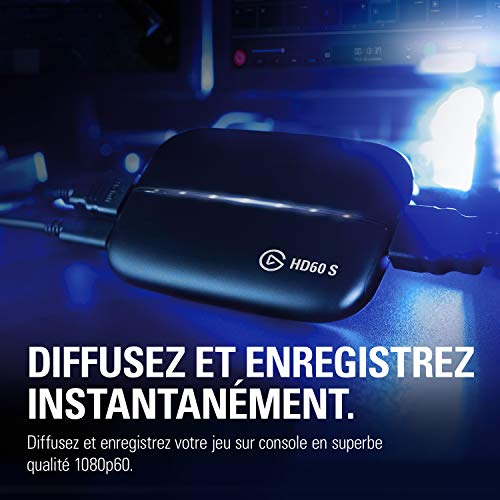 Elgato Capture HD60 S - Diffusez, enregistrez et partagez votre gameplay en 1080p60 pour PS4 et Xbox One Xbox 360