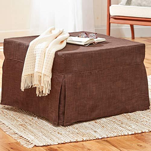 BrylaneHome Folding Sleeper Ottoman (350 lb. Capacity)