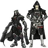 COSTHEME Overwatch Reaper Cosplay Kostüm, offizielles Lizenzprodukt, Halloween, Gabriel Reyes, Kampfanzug, PU-Leder Gr. S, Schwarz