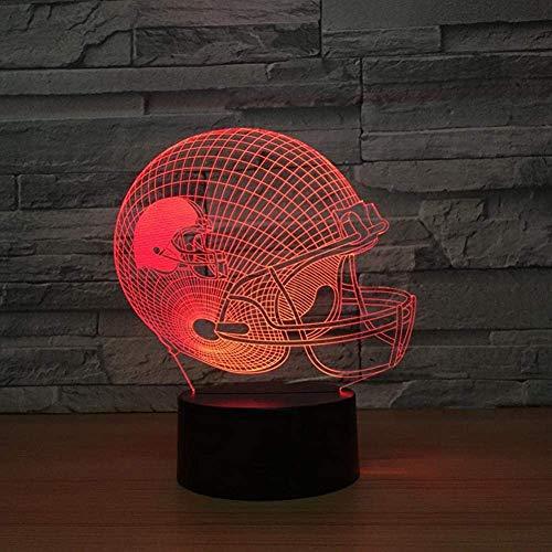 3D-Illusionslampe LED-Nachtlicht, bestes Weihnachtsgeschenk , 7 Farben Auto Changing Touch Switch Schreibtisch Dekoration Lampen Geburtstagsgeschenk , Gemütliche und sehr schöne Baseballkappe