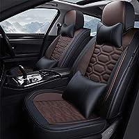 カーシートカバーフカーシート、カーシートカバーフォーシーズンズレザーシートカバー、豪華シートカバー快適で通気性に優れたあらゆる種類の5人乗り車用のサマーシートカバー