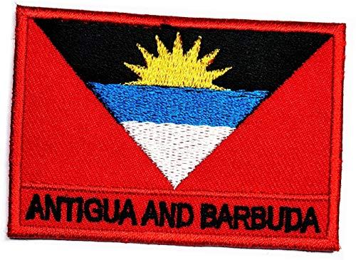 Antigua & Barbuda Flagge zum Aufbügeln oder Aufnähen, Antigua & Barbuda-Flagge, Länderemblem, Militäruniform, Logo, Kleidung, Jacke, Jeans, Mütze, Rucksäcke (10)