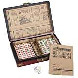 ALTINOVO Chinese Mahjong Game Set with wooden mahjong box, 144 Tiles(Mah Jong, Mahjongg, Mah Jongg)