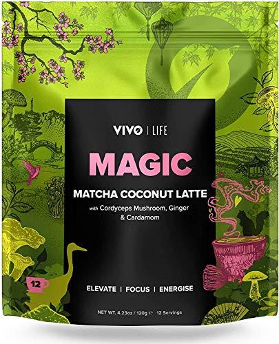 Vivo Life - Magic - Polvo de Leche Vegano con Matcha y Coco - Inyección de Energía Natural - 120g
